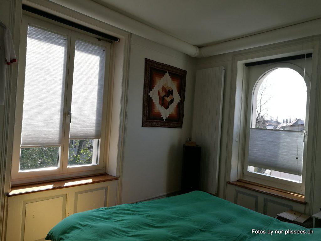 plissees f r schlafzimmer. Black Bedroom Furniture Sets. Home Design Ideas